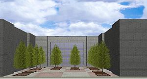 造園CADで作成した一点透視図