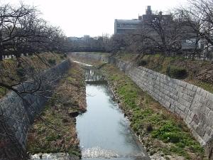 山崎川(鼎小橋)